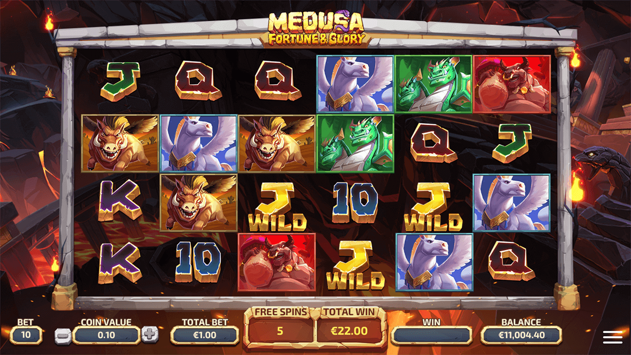 Medusa Fortune and Glory goryfeature free spins